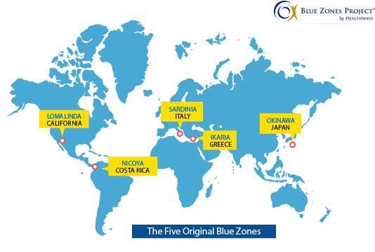 regiões do mundo onde as pessoas vivem mais anos
